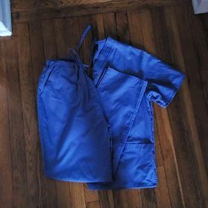 Blue scrubs set